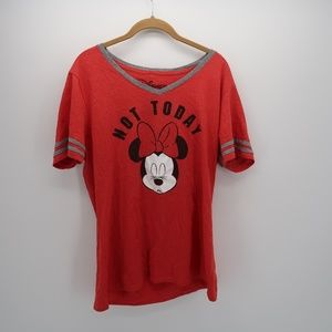 Disney Minnie Mouse V-Neck Short Sleeve Top 1X